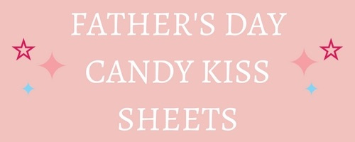 Fathers Day Edible Candy Kiss Sheets