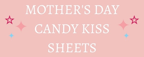 Mothers Day Edible Candy Kiss Sheets