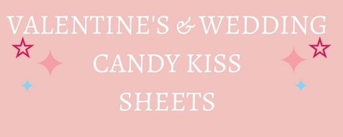 Valentines Edible Candy Kiss Sheets
