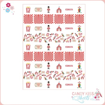 Circus Themed Candy Kiss Sheet