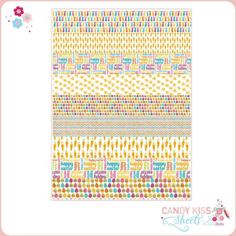 Easter Patterns with Words Candy Kiss Sheet