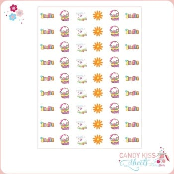 Easter Themed Candy Kiss Sheet