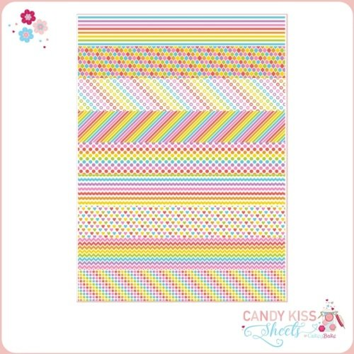 Rainbow Themed Candy Kiss Sheet