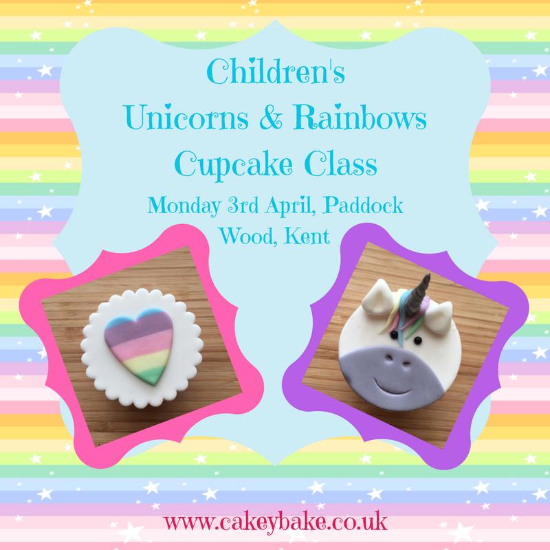 Unicorns & Rainbows Cupcake Class