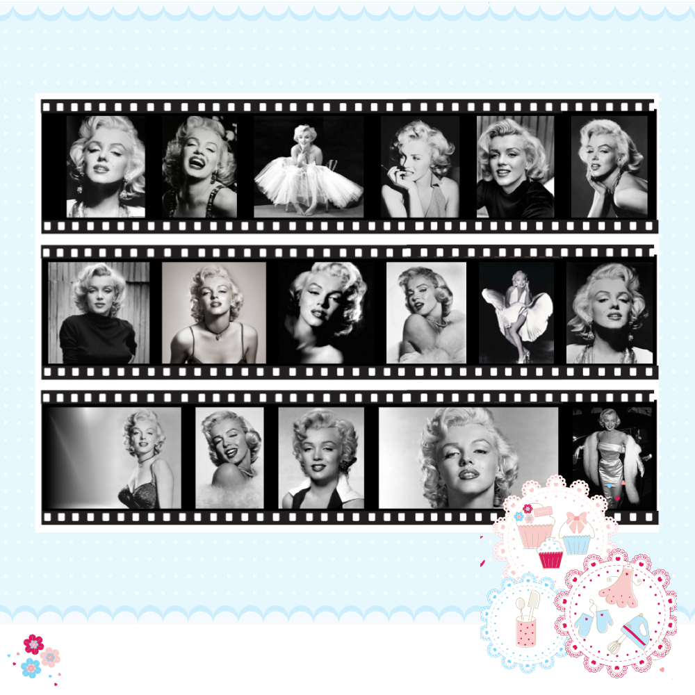 Edible Icing Sheet - Marilyn Monroe Film Strip Icing Sheet