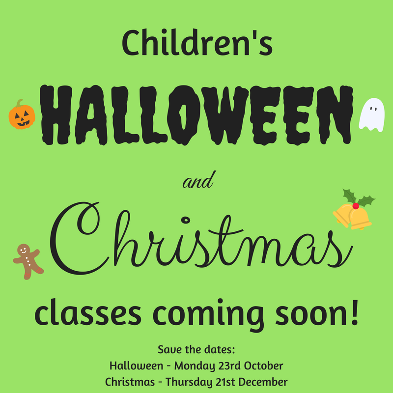 Children's halloween christmas class