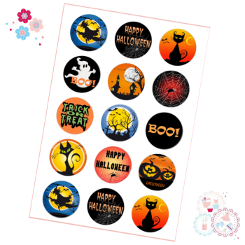 Classic Halloween Cupcake Toppers x 15