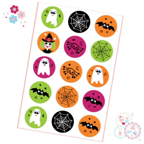 Halloween Cupcake Toppers Ghosts, Spiders and Witches