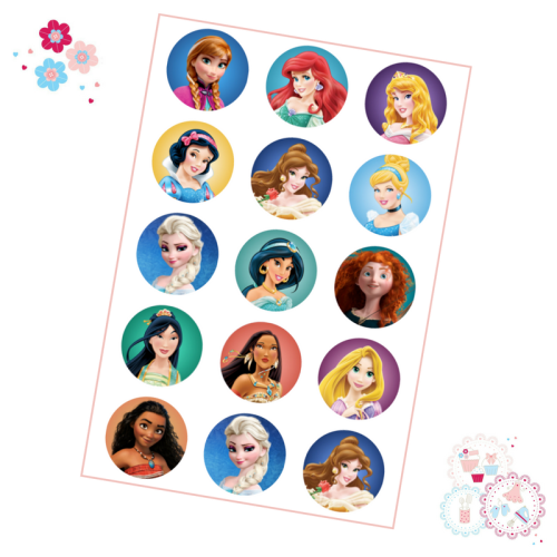 Princess Cupcake Toppers