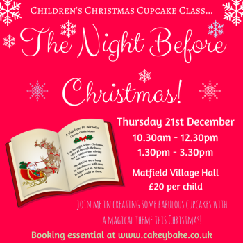 December 21st - Children's Christmas Cupcake Class - The Night Before Christmas!