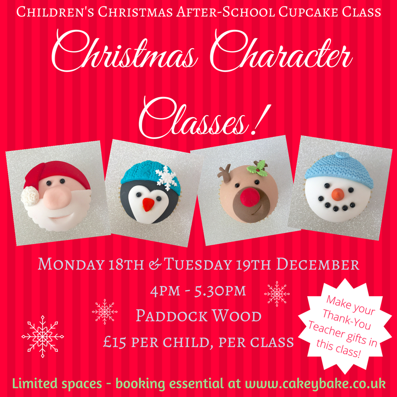 Children's After-School Christmas Characters Cupcake Classes