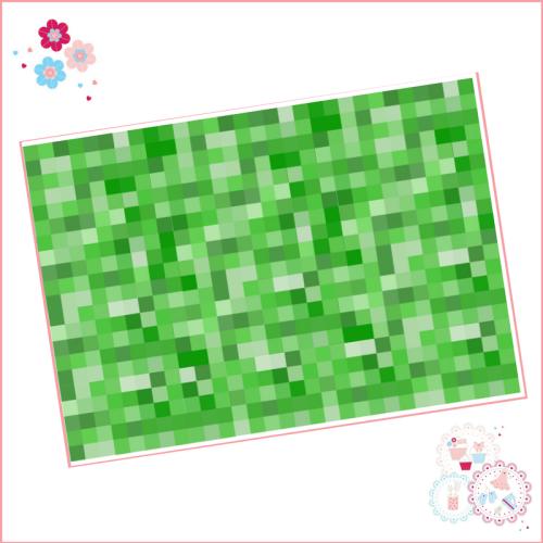 Edible Icing Sheet - Green Squares icing Sheet