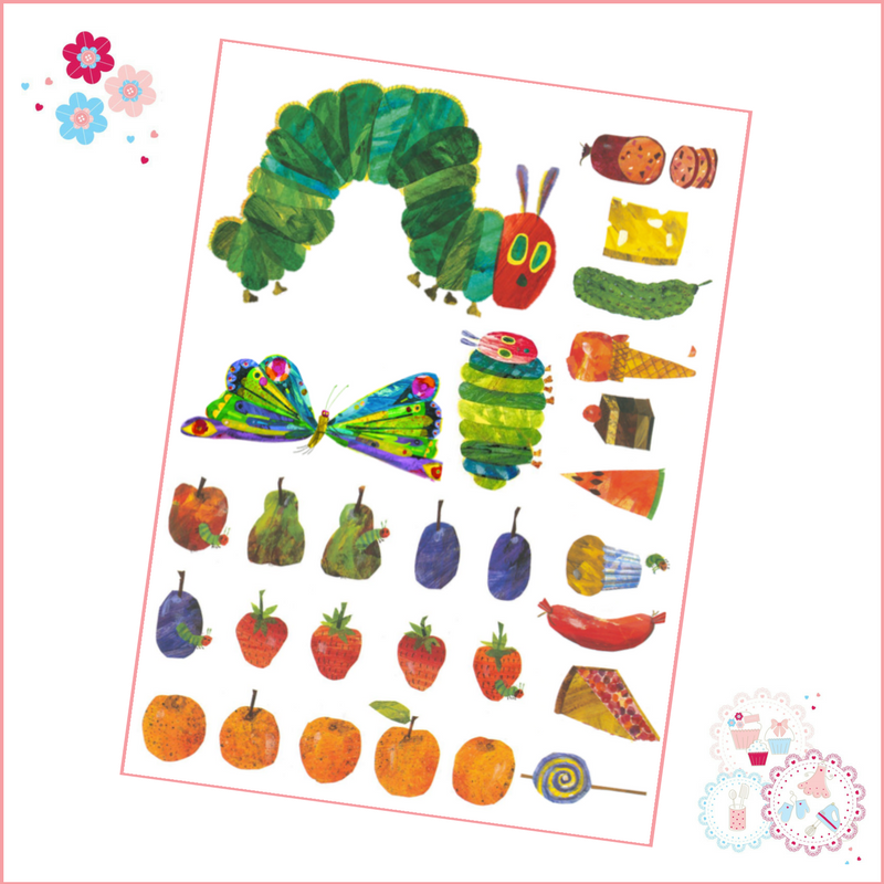 Edible Icing Sheet - Very Hungry Caterpillar designs