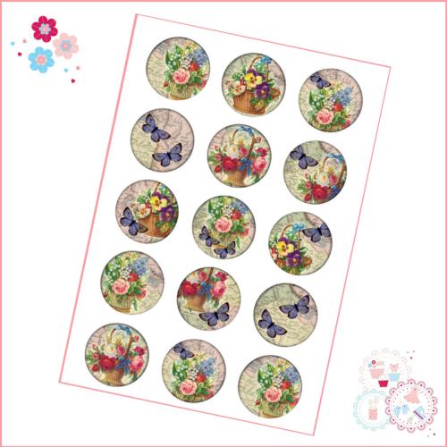 Butterflies & Flowers Cupcake Toppers