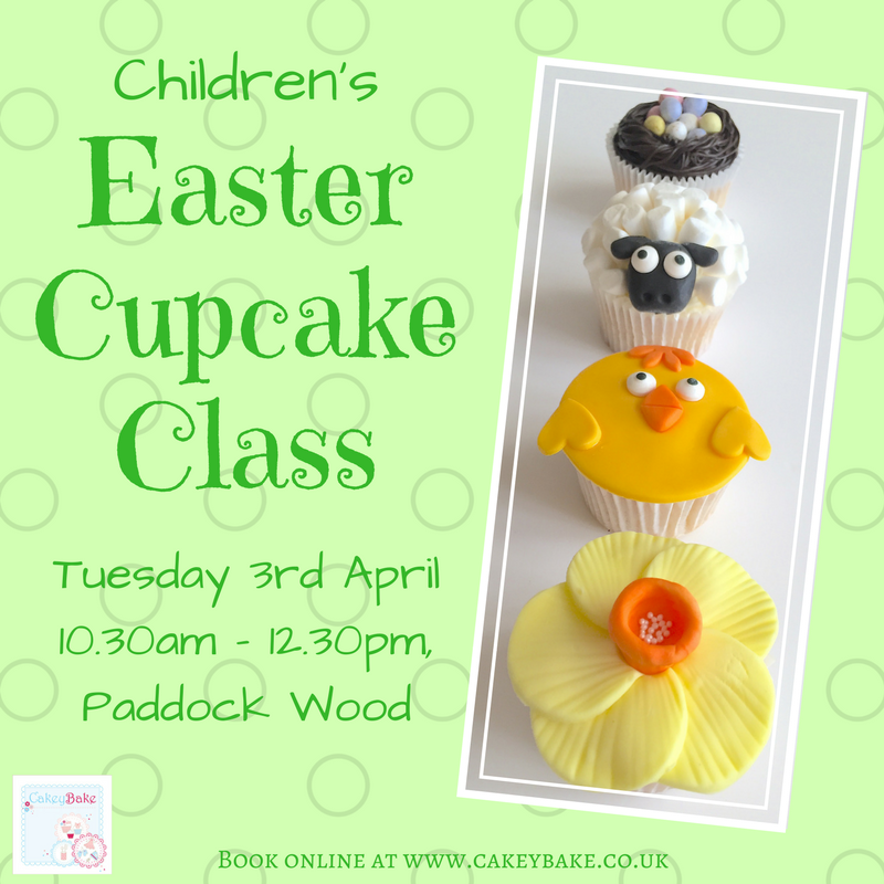 Children's Easter Basket of Cupcakes Class!