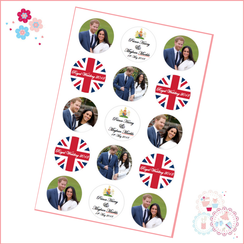 royal wedding cupcake toppers harry and meghan 15