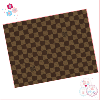 Edible Icing Sheet - Louis Vuitton Designer Logo Icing Sheet (portrait or landscape) - square design