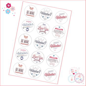 Valentine's Quotes Cupcake Toppers
