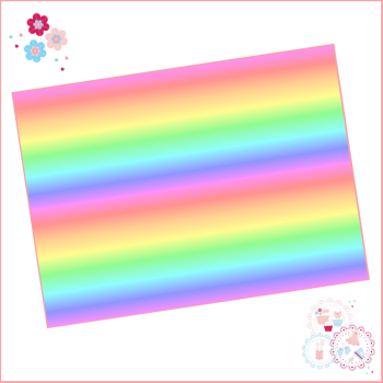 Rainbow Ombre Stripes A4 Edible Printed Sheet