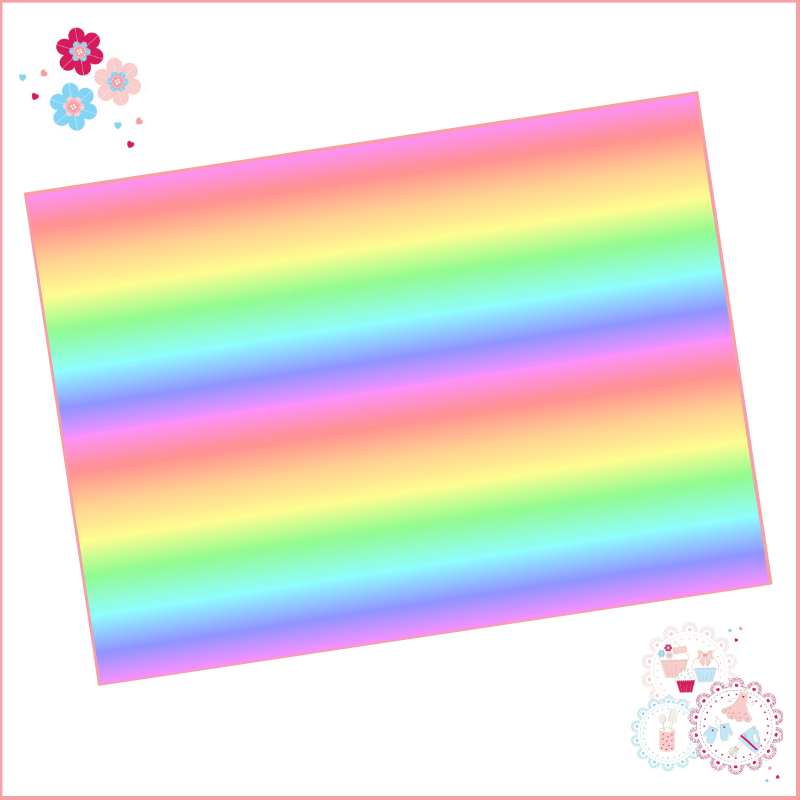 Rainbow Ombre A4 Edible Printed Sheet