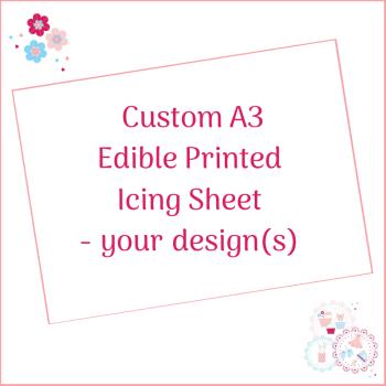 Bespoke A3 Edible Icing Sheet - Custom Order