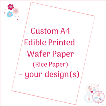 Bespoke A4 Edible Wafer Sheet - Custom Order
