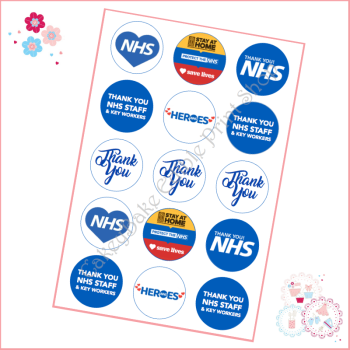 NHS Thankyou Cupcake Toppers