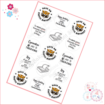 Tiger King Cupcake Toppers - Joe Exotic themed