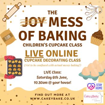 The Mess of Baking Children's Cupcake Class - online class