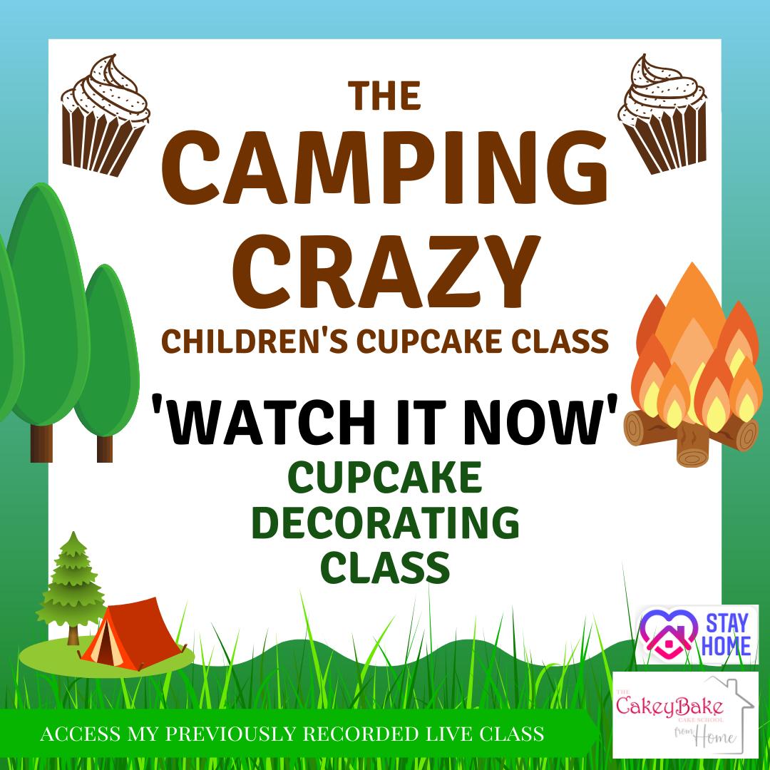 The Camping Crazy Children's Cupcake Class - online class