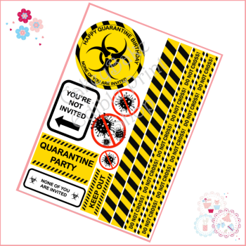 Quarantine Birthday Cake Topper Sheet