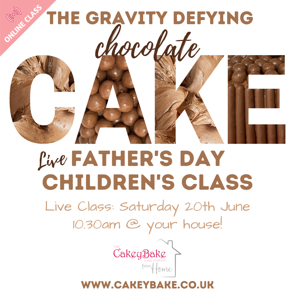 The Father's Day Gravity Defying Chocolate Class - online class