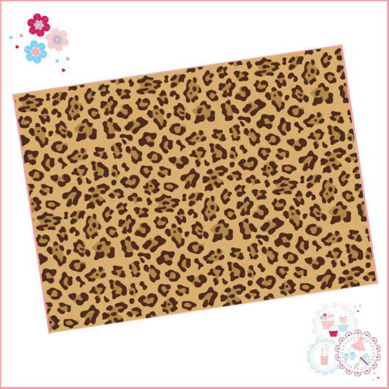 Leopard Print A4 Edible Printed Sheet - Design 2