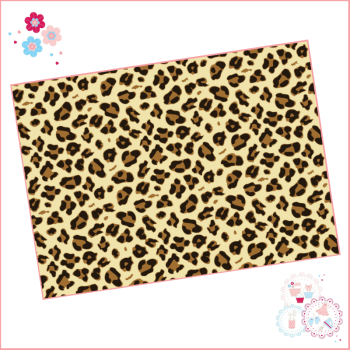 Leopard Print Edible Printed Sheet - Design 3