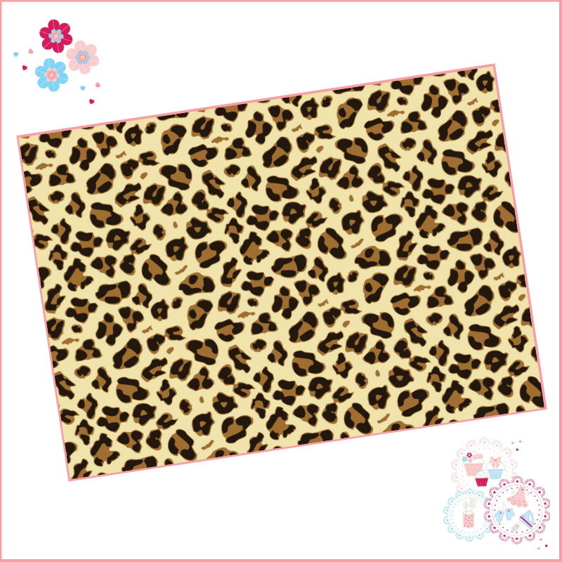 Leopard Print A4 Edible Printed Sheet - Design 3