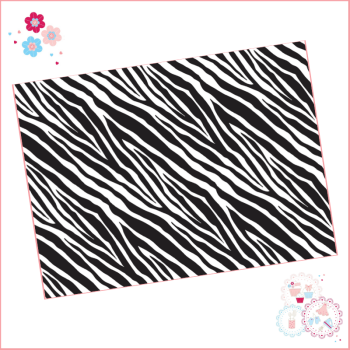 Zebra Print A4 Edible Printed Sheet