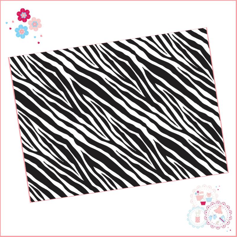 Zebra Print A4 Edible Printed Sheet - Design 3