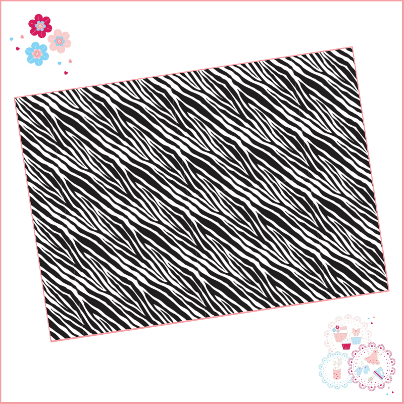 Zebra Print (small) A4 Edible Printed Sheet