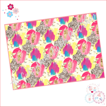 Abstract Paint Patterned Cake Wrap A4 Edible Printed Sheet - Design 3