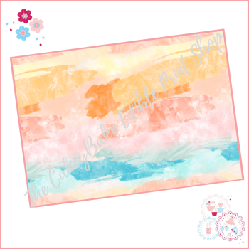 Abstract Watercolour Paint Effect Cake Wrap A4 Edible Printed Sheet - Design 3