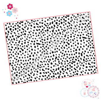 Black and White Dalmatian Print Cake Wrap A4 Edible Printed Sheet
