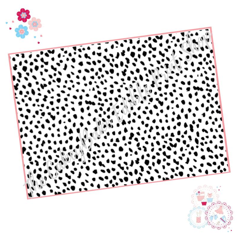 Black and White Dalmatian Print Cake Wrap A4 Edible Printed Sheet