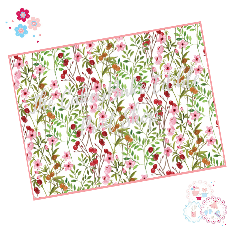 Wild Field Flowers Floral A4 Edible Printed Sheet