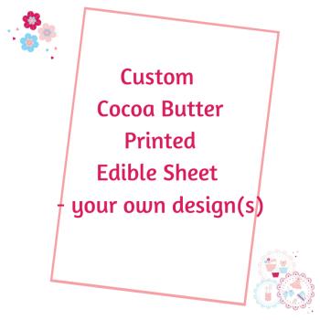 Bespoke Cocoa Butter Transfer Sheet - Custom Order
