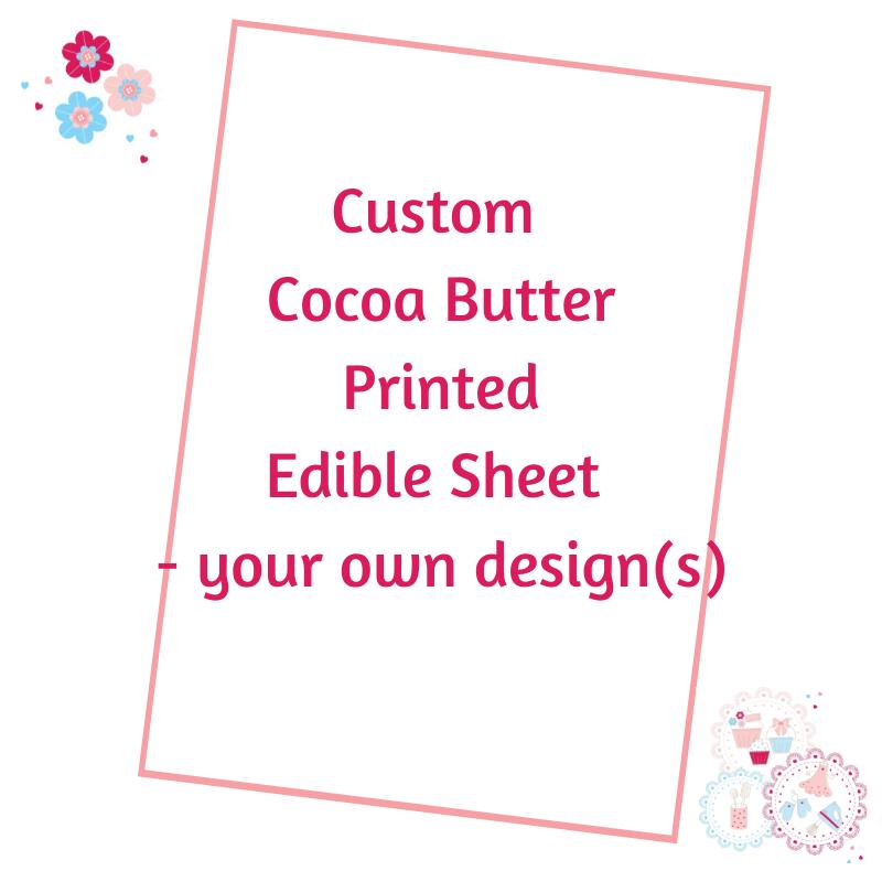 Bespoke Cocoa Butter Transfer Sheet - Custom Order (A4)