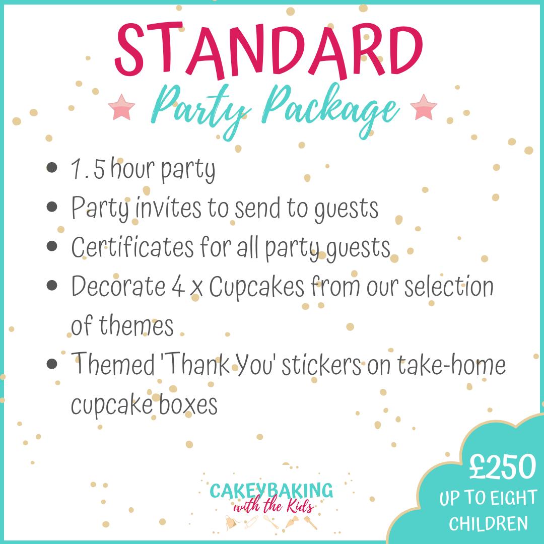 Standard children's cupcake party
