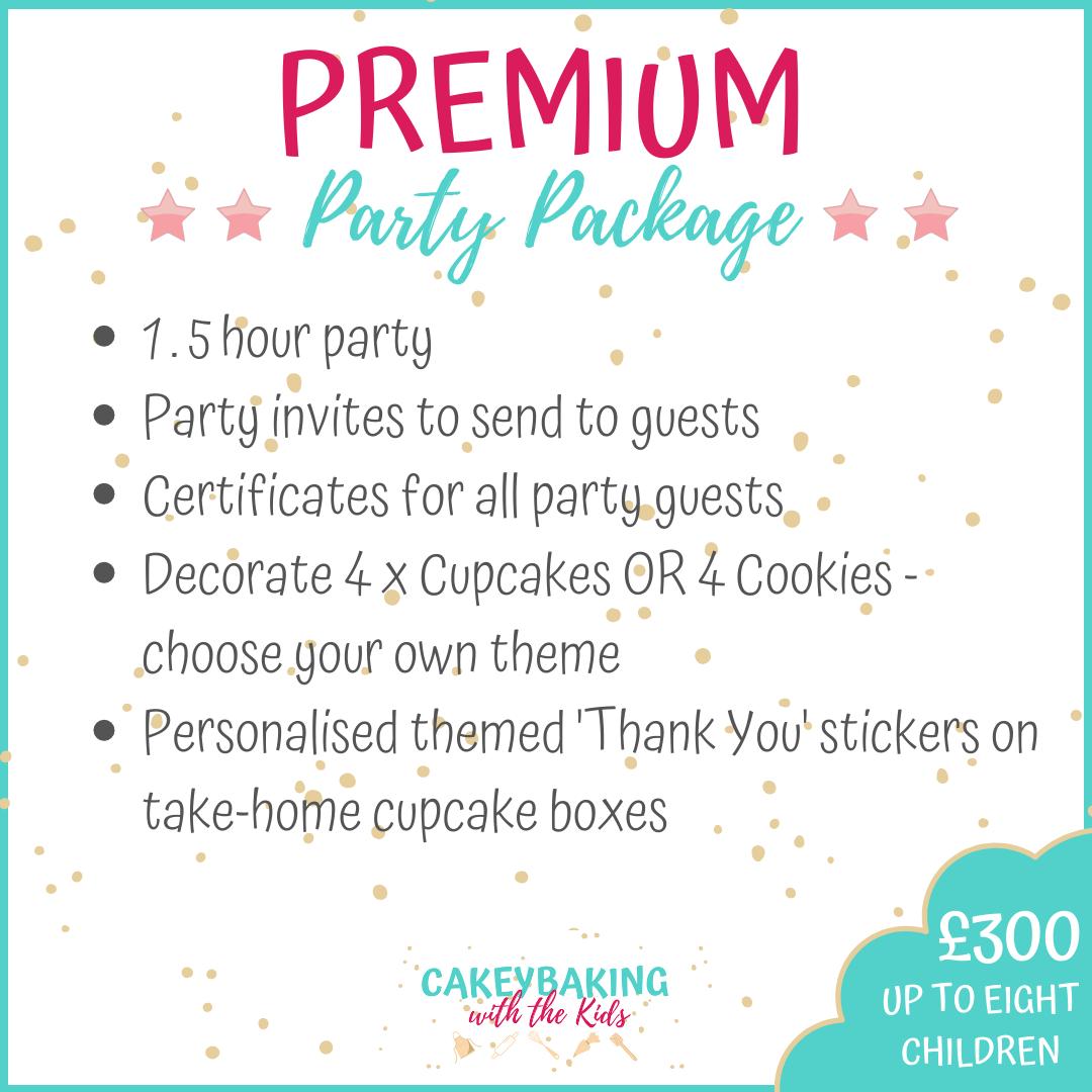 Premium childrens cupcake party