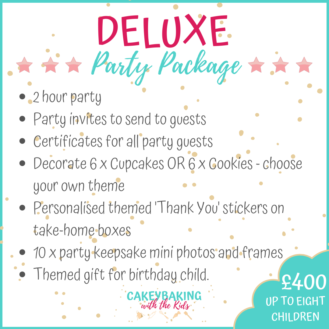 Deluxe Childens cupcake party