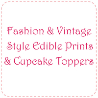 Fashion & Vintage Style Edible Prints & Toppers