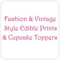Fashion & Vintage Style Edible Prints & Toppers